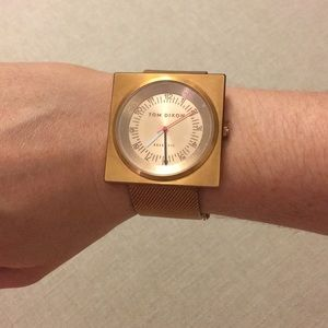Tom Dixon block watch - rose gold